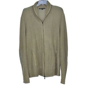 John Varvatos Knit Patch Elbow Sweater Jacket Mens